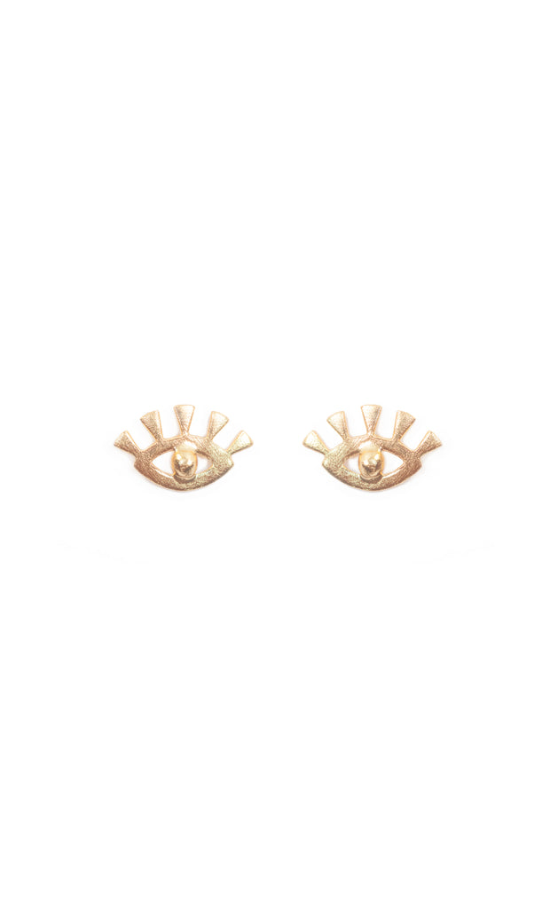 ROSE KHBEIS | BLAIZ | Iris Eye Gold Studs