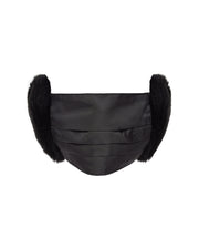 BLAIZ | Jakke | Felicity Facemask Black, face mask, earmuff mask, recycled faux fur made from plastic bottles