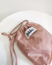 BLAIZ | Jakke | Felicity Facemask Blush Pink, face mask, earmuff mask, recycled faux fur made from plastic bottles