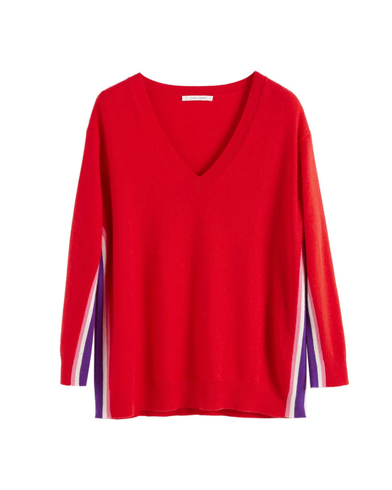 Red Heritage Stripe Sweater