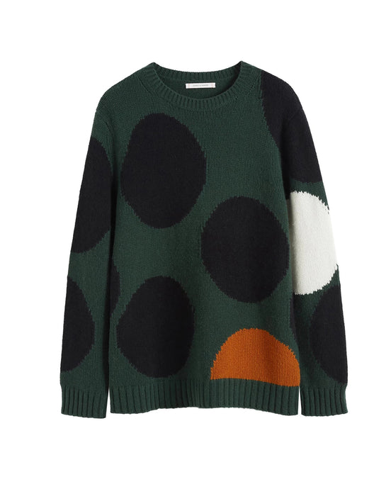 Green Spot Sweater