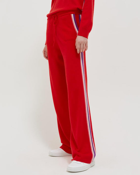 Red Heritage Stripe Trackpant