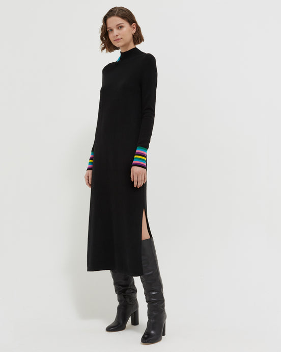 Black Bloomsbury Sweater Dress