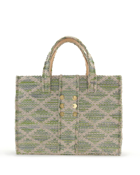 Mint Green Woven Tote Bag