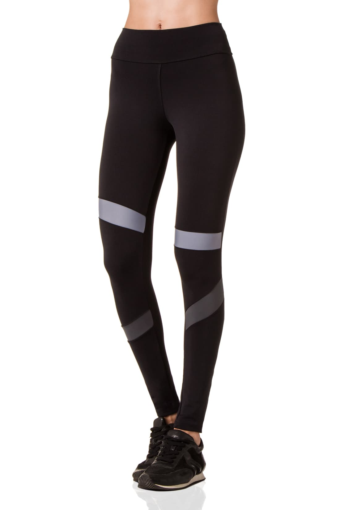 Black & Grey Asymmetric Leggings