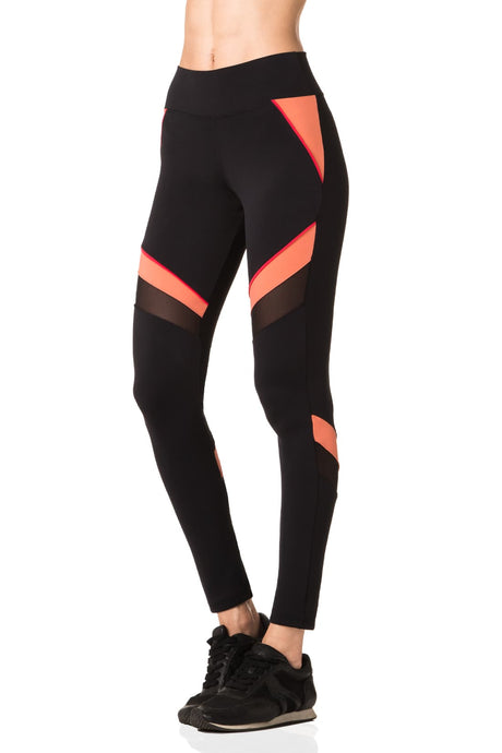 Black & Coral Avalon Leggings