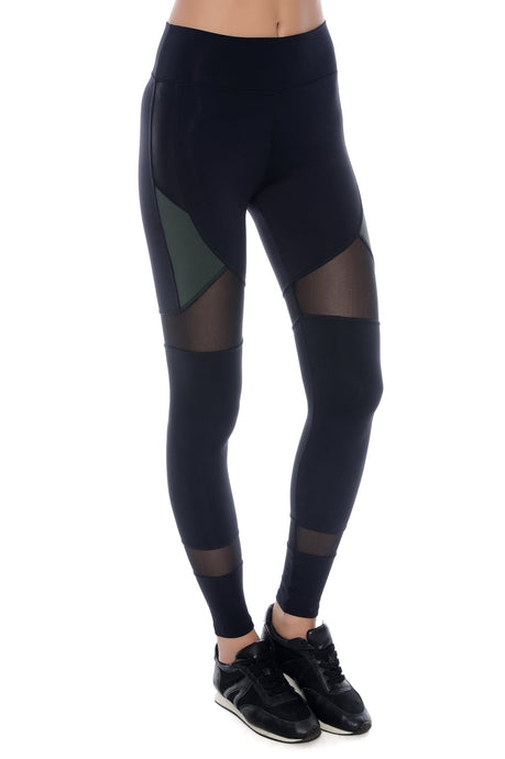 Black & Green Mirage Leggings
