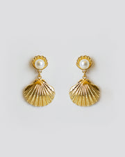 Gold Shell Earrings