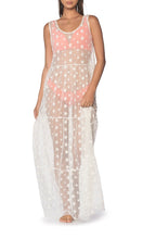 Load image into Gallery viewer, White Star Maxi Dress