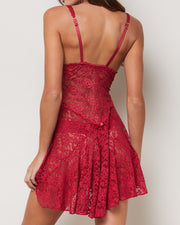 Veruska Ruby Red Lace Night Dress