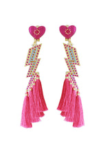 Load image into Gallery viewer, Pink Lightening Bolt Earrings