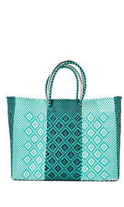 Mint, Black & White Tote Bag