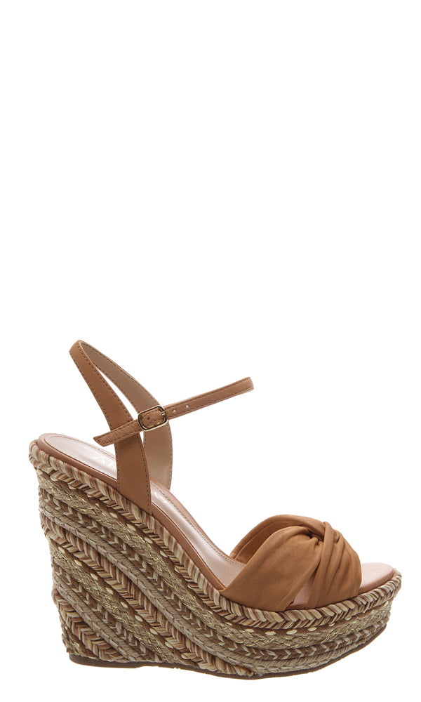 94369f42ff8 ... Load image into Gallery viewer, Tan Suede Braided Wedges ...