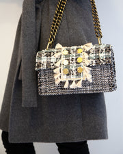 Grey Tweed Soho Shoulder Bag