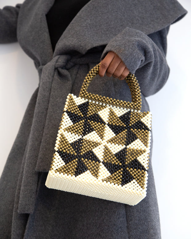 Gold Nina Tote Bag