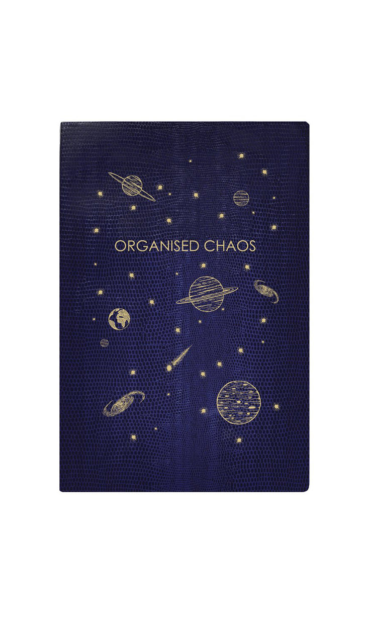 Organised Chaos Navy Softcover Notebook