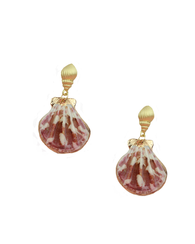 227 | BLAIZ | Marble Pink Shell Earrings