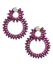 Purple Infinity Hoops