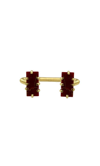 Burgundy & Gold Mini Shmali Bracelet