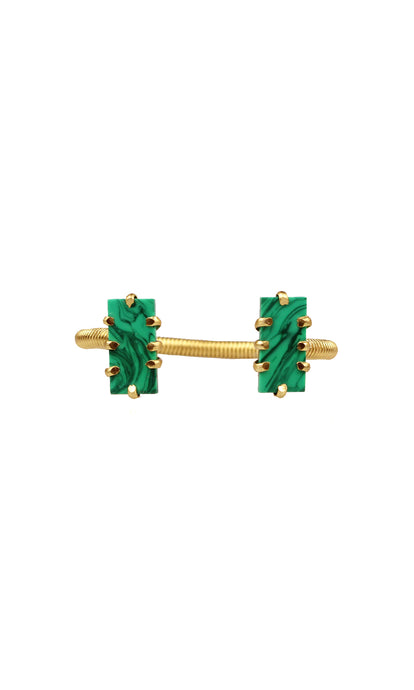 Gold & Malachite Mini Shmali Bracelet