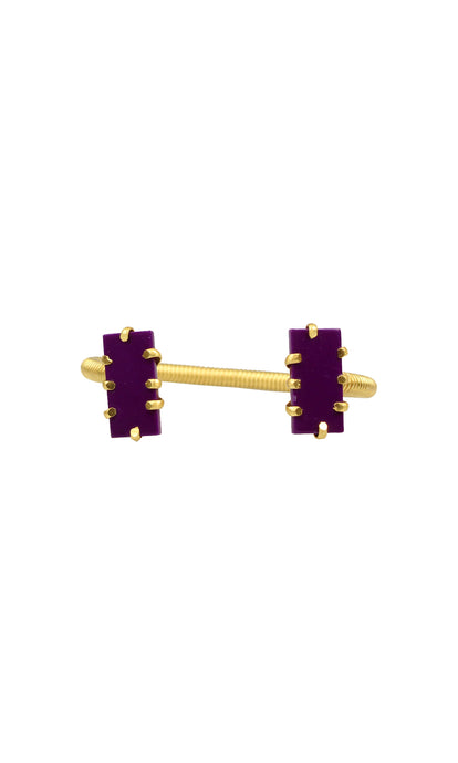 Purple & Gold Shmali Mini Bracelet