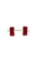 Load image into Gallery viewer, Red & Silver Mini Shmali Bracelet