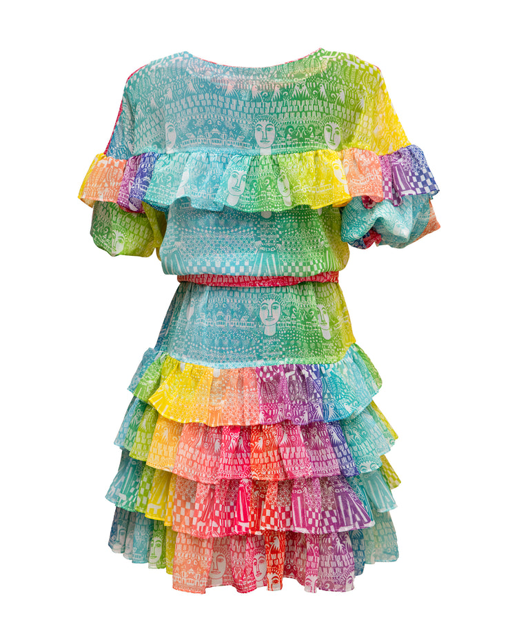 LEVINIA | BLAIZ | Rainbow Tie-Dye Erato Mini Dress