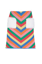 Load image into Gallery viewer, Rainbow Striped Knit Skirt