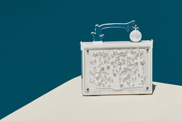 White Branch Coral Clutch