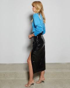 Black Finn Midi Skirt