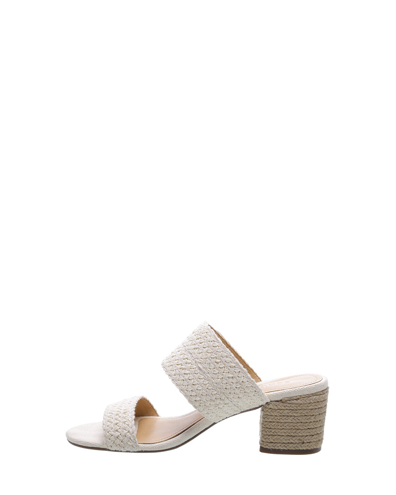 a0cf911be030b ... Load image into Gallery viewer, Cream Braided Strap Mules ...