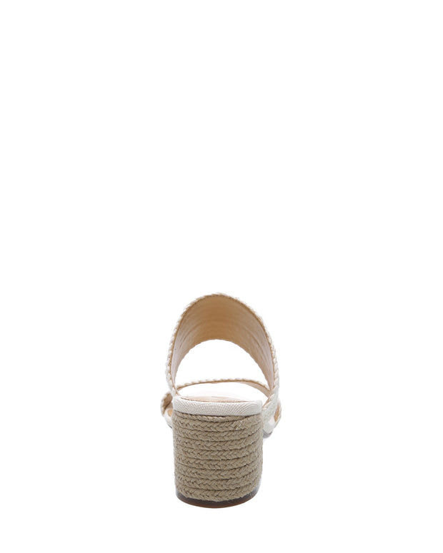 Cream Braided Strap Mules