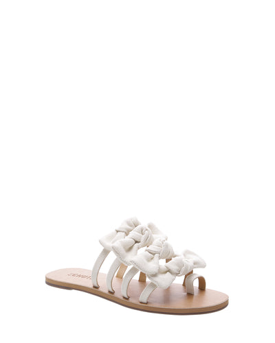 Cream Canvas Bow Sandals