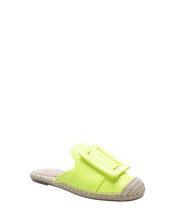 Load image into Gallery viewer, Neon Yellow Buckle Espadrilles
