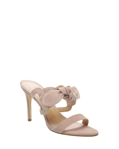 Blush Pink Suede Bow Heels