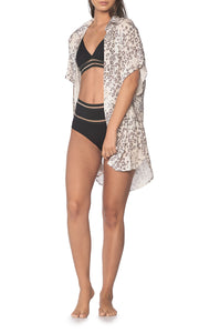 Chill Out Cheetah Shirt Cover Up