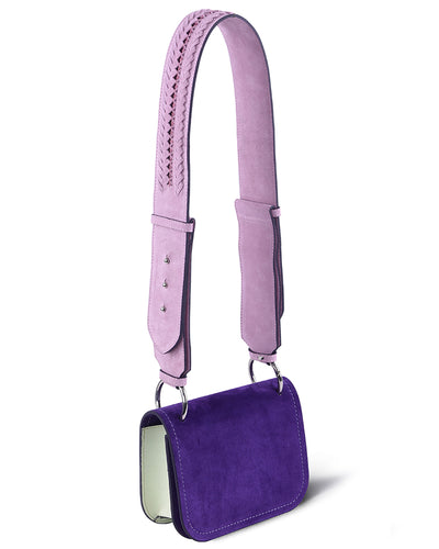 Purple Suede Shoulder Bag