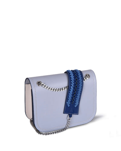 Light Blue Chain Shoulder Bag