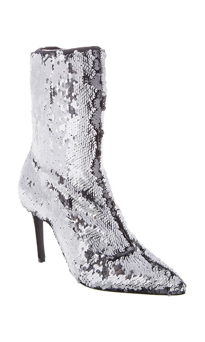 Sequin High Heeled Boots
