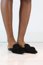 Load image into Gallery viewer, Black Flat Suede Mules