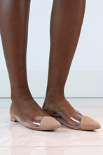Load image into Gallery viewer, Nude Suede & PVC Mules