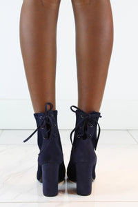 Navy Ankle Boots