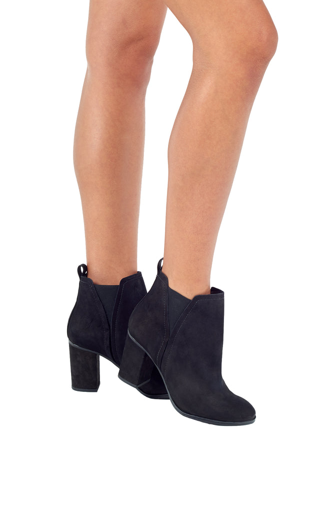 SCHUTZ | BLAIZ | Black Leather High Heeled Ankle Boots