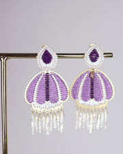 Purple Jellyfish Earrings