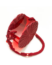 Red Rattan & Acrylic Bag