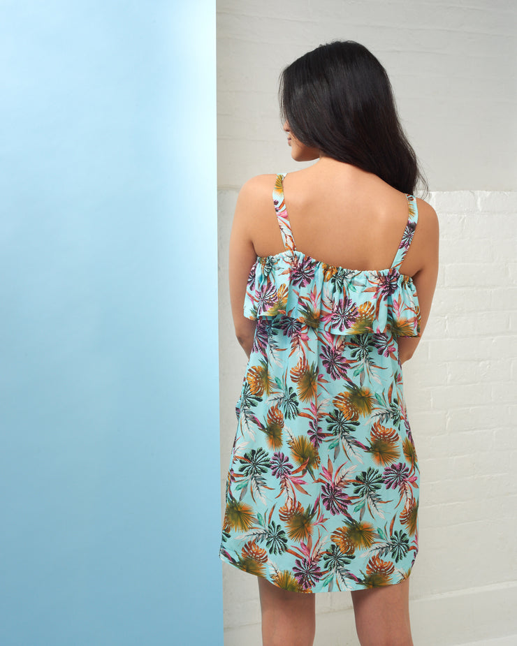 CIA MARITIMA | BLAIZ | Turquoise Palm Print Dress