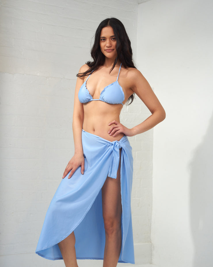 CIA MARITIMA | BLAIZ | Light Blue Long Canga Beachwear