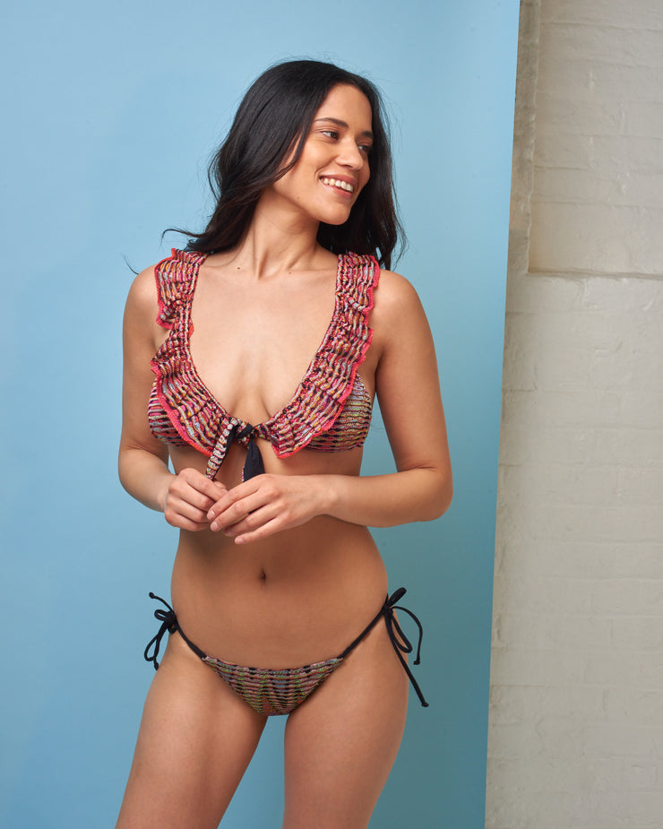 CECILIA PRADO | BLAIZ | Crochet Tie Side Bikini Bottoms