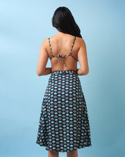 Dark Blue Mykonos Midi Skirt
