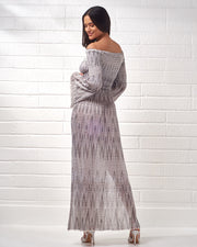 CECILIA PRADO | BLAIZ | Black & White Knit Maxi Dress